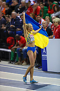 Olga Saladukha (Ukraine) Women's Triple Jump, Bronze Medal, during the European Athletics Indoor Championships at Emirates Arena, Glasgow, United Kingdom on 3 March 2019.