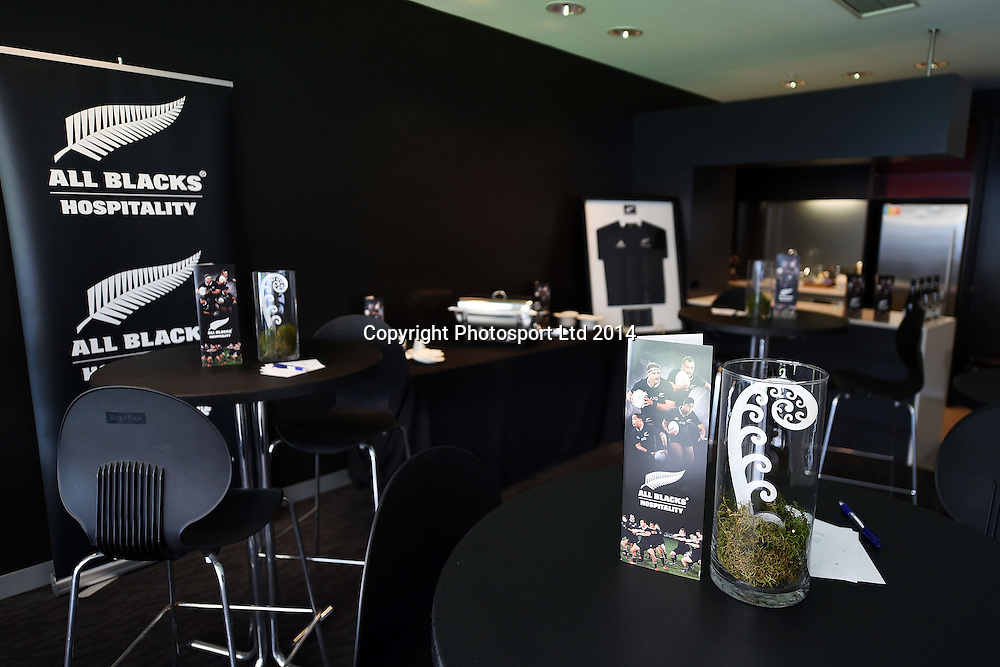 Eden Park corporate hospitality box ahead of the first test against England at Eden Park. Auckland, New Zealand. 6 June 2014. Photo: Andrew Cornaga/www.photosport.co.nz
