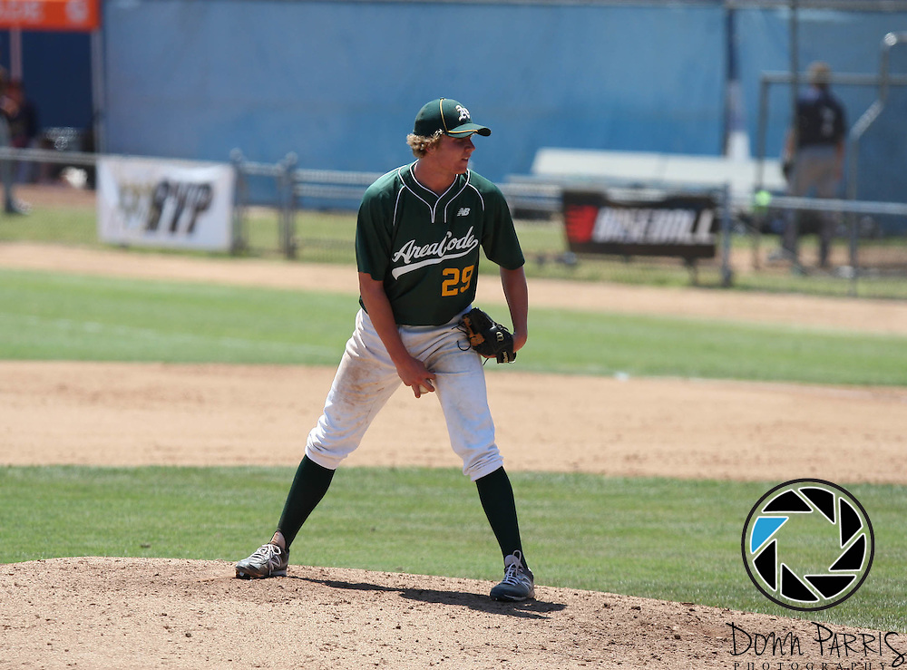 Trevin Haseltine 2012 Area Code Baseball, Blair Field, Aug 8 2012, Long Beach CA (Donn Parris)