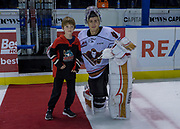KELOWNA, CANADA - OCTOBER 13:  First Star of the Game Nick Schneider #31 of the Calgary Hitmen at the Kelowna Rockets game on October 13, 2017 at Prospera Place in Kelowna, British Columbia, Canada.  (Photo By Cindy Rogers/Nyasa Photography,  *** Local Caption ***