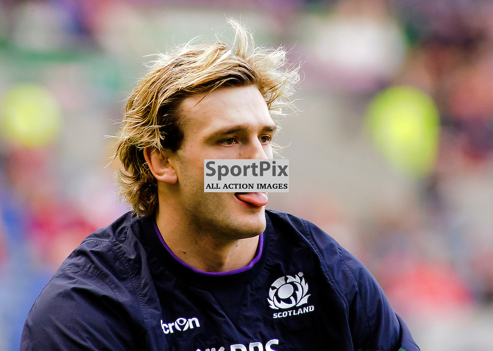 15/02/2015, Murrayfield, Scotland, A relaxed looking Richie Gray during the Scotland v Wales 6 Nations game, ......(c) COLIN LUNN | SportPix.org.uk