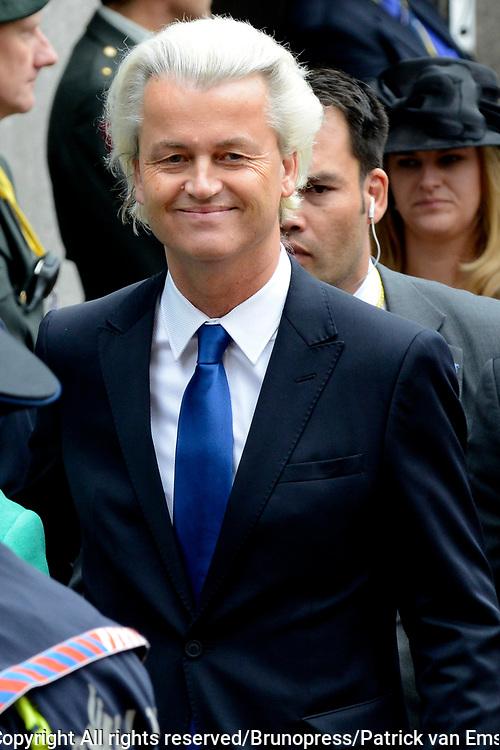 Prinsjesdag 2013 - Aankomst Parlementari&euml;rs bij de Ridderzaal op het Binnenhof.<br /> <br /> Op de foto:  Tweede Kamerlid Geert Wilders (PVV)
