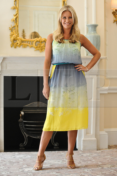 © Licensed to London News Pictures. 05/09/2012. London, UK. Denise Van Outen at a photocall at The Savoy Hotel, London, calling on the public to make nominations for next year's Tesco Mum of the Year Awards. Photo credit : Thomas Campean/LNP