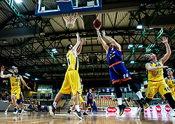 Jure Besedic of Helios Suns during basketball match between KK Hopsi Polzela and KK Helios Suns in semifinal of Spar Cup 2018/19, on February 16, 2019 in Arena Bonifika, Koper / Capodistria, Slovenia. Photo by Vid Ponikvar / Sportida