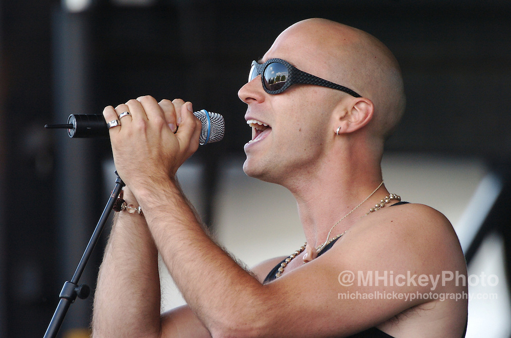 "Ed Kowalczyk of the band ""Live"" performs at the Indianapolis Motor Speedway on Carbueration Day. Photo by Michael Hickey"