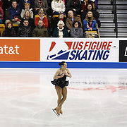Vanessa Lam competes during the championship ladies free skate at the 2014 US Figure Skating Championships at the TD Garden on January 11, 2014 in Boston, Massachusetts.