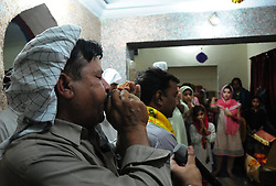 June 17, 2017 - Rawalpindi, Punjab, Pakistan - Women from the Pakistani Hindu community celebrate 85th Urs of Hari om Bhandhara at Gracy line temple Rawalpindi. (Credit Image: © Zubair Abbasi/Pacific Press via ZUMA Wire)