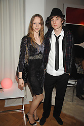 Model MORWENNA LYTTON COBBOLD and MATTHEW LASKEY at the Scarlet TV Launch Party -  a new series of flat panel LCD televisons from LG electronics held at the refurbished church, 1 Marylebone, London on 30th April 2008.<br /><br />NON EXCLUSIVE - WORLD RIGHTS
