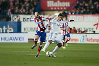 Atletico de Madrid's Griezmann and Real Madrid's Raphael Varane during 2014-15 Spanish King Cup match at Vicente Calderon stadium in Madrid, Spain. January 07, 2015. (ALTERPHOTOS/Luis Fernandez)