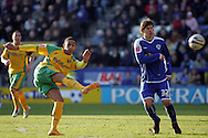 Leicester - Saturday, February 16th, 2008: Zsolt Laczko (R) of Leicester City and Jon Otsemobor (L) of Norwich City during the Coca Cola Champrionship match at the Walkers Stadium, Leicester. (Pic by Mark Chapman/Focus Images)
