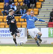 Dundee's Craig Wighton goes past St Johnstone's David Mackay - St Johnstone v Dundee, SPFL Premiership at McDiarmid Park<br /> <br />  - &copy; David Young - www.davidyoungphoto.co.uk - email: davidyoungphoto@gmail.com