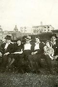 family outdoor portrait France ca 1930s