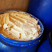 "Shea butter in a large barrel at ""La Maison du Karité"" shea processing center in Siby, near Bamako, Mali on Friday January 15, 2010."