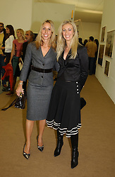Left to right, HAYLEY SIEFF and JENNY PRINCE at a private view of the 2004 Frieze Art Fair - a major exhibition attended by most of the leading contempoary art dealers held in Regents Park, London on 14th October 2004.NON EXCLUSIVE - WORLD RIGHTS