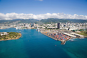 Honolulu Harbor, Oahu, Hawaii<br />