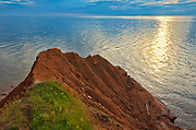Red sand and bluffs along the Northumberland Strait<br />Cape Bear<br />Prince Edward Island<br />Canada