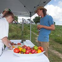 At FarmStart's Harvest Table, McVean Farm, Brmapton, Ontario. Sunday August 19, 2012.