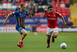 Jay Dasilva of Charlton Athletic and Bryn Morris of Shrewsbury Town - Mandatory by-line: Paul Terry/JMP - 10/05/2018 - FOOTBALL - The Valley - Charlton, London, England - Charlton Athletic v Shrewsbury Town - Sky Bet League One