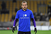 Harry Kane forward of Tottenham Hotspur (25) with #TogetherwithLeicester (Together with Leicester) t-shirt during the Premier League match between Wolverhampton Wanderers and Tottenham Hotspur at Molineux, Wolverhampton, England on 3 November 2018.