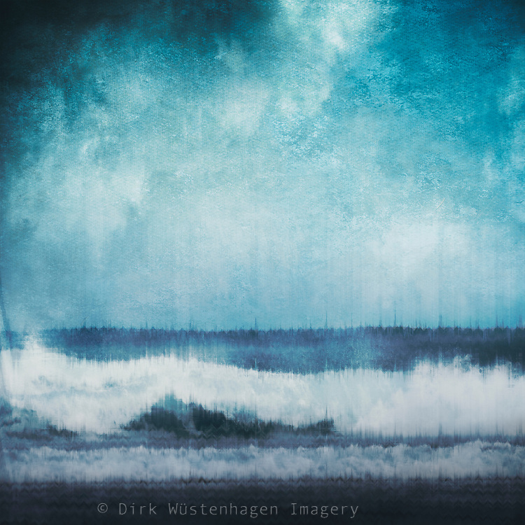 Digitally manipulated abstraction of a wave<br />