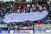 ALKMAAR - 01-05-2016, AZ - de Graafschap, AFAS Stadion, 4-1, sfeer, spandoek.