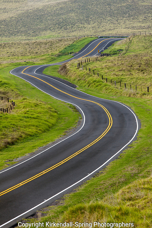 .HI00227-00...HIAWAI'I - Waimea Mana Road on the island of Hawai'i.