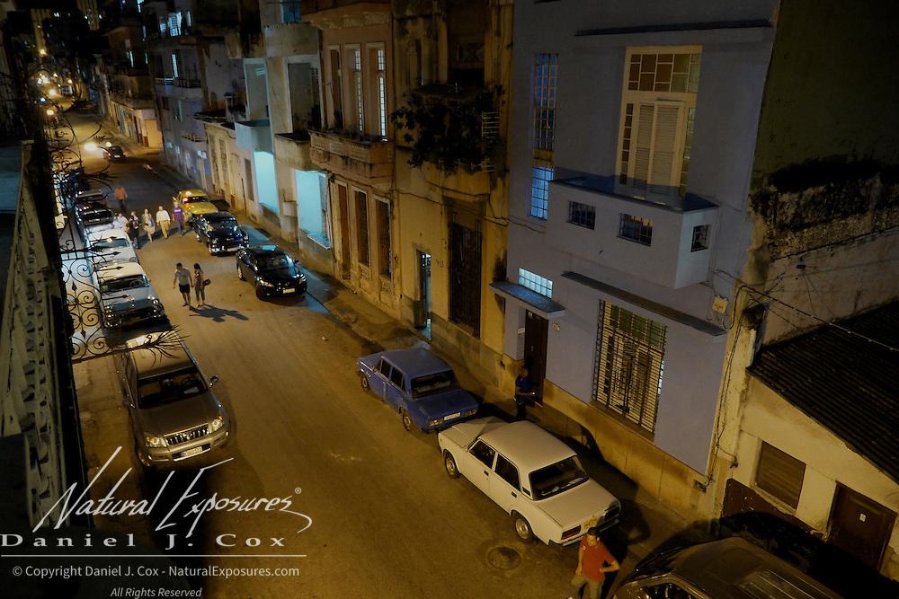 Evening on the streets of Havana, Cuba
