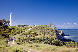 Grand Turk Island Lighthouse, Turks & Caicos Islands:  People approaching the lighthouse which now serves as a museum. Numerous views available; contact photographer.
