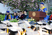 at the University of Rochester's Commencement Ceremony on Sunday, May 18, 2014.
