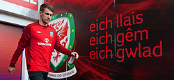 CARDIFF, WALES - Thursday, October 10, 2013: Wales' captain Aaron Ramsey during a training session at the Cardiff City Stadium ahead of the 2014 FIFA World Cup Brazil Qualifying Group A match against Macedonia. (Pic by David Rawcliffe/Propaganda)
