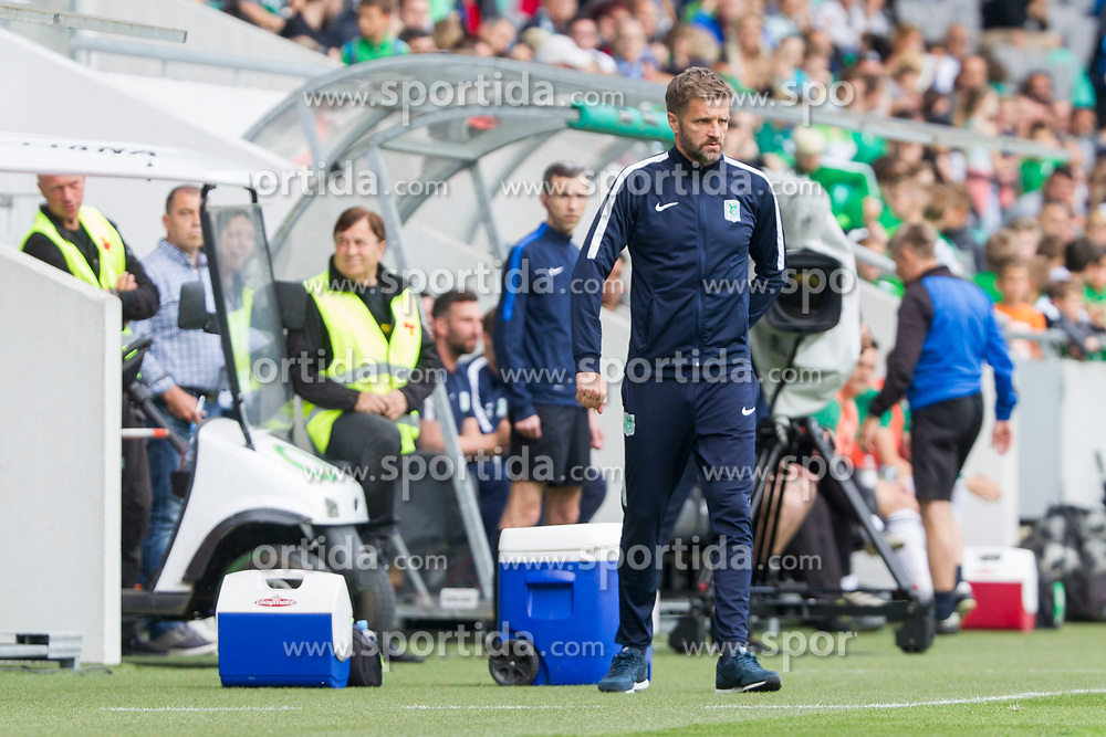 Igor Biscan, head coach of NK Olimpija Ljubljana during football match between NK Olimpija Ljubljana and NK Krsko in Round #35 of Prva liga Telekom Slovenije 2017/18, on May 23, 2018 in SRC Stozice, Ljubljana, Slovenia. Photo by Urban Urbanc / Sportida