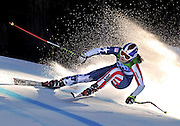 Lindsey Vonn competes in the Ladies' Super-G during the 2010 Vancouver Winter Olympics.