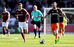 Jay O'Shea of Sheffield United runs with the ball - Mandatory by-line: Robbie Stephenson/JMP - 08/04/2017 - FOOTBALL - Sixfields Stadium - Northampton, England - Northampton Town v Sheffield United - Sky Bet League One