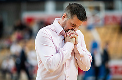 Bostjan Kuhar, head coach of Hopsi Polzela reacts during basketball match between KK Sixt Primorska and KK Hopsi Polzela in final of Spar Cup 2018/19, on February 17, 2019 in Arena Bonifika, Koper / Capodistria, Slovenia. Photo by Vid Ponikvar / Sportida