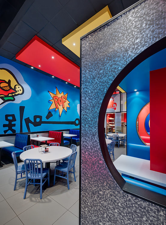 Rockville Mellow Mushroom Restaurant interior image by Jeffrey Sauers of Commercial Photographics, Architectural Photo Artistry in Washington DC, Virginia to Florida and PA to New England
