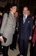 Emma Fellowes and Prince Michael of Kent, Snobs by Julian Fellowes, the Ritz. 5 April 2004. ONE TIME USE ONLY - DO NOT ARCHIVE  © Copyright Photograph by Dafydd Jones 66 Stockwell Park Rd. London SW9 0DA Tel 020 7733 0108 www.dafjones.com
