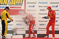 Scott Dixon, Dario Franchitti, Graham Rahal, Bridgestone Indy 300 Japan, Motegi, Japan