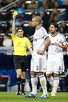 01.12.2012 SPAIN -  La Liga 12/13 Matchday 14th  match played between Real Madrid CF vs  Atletico de Madrid (2-0) at Santiago Bernabeu stadium. The picture show Kepler Laveran Pepe (Portuguese/Brazilian defender of Real Madrid)
