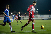 Matt Crooks (Accrington Stanley) and Scott Harrison (Hartlepool United) during the Sky Bet League 2 match between Accrington Stanley and Hartlepool United at the Fraser Eagle Stadium, Accrington, England on 19 January 2016. Photo by Mark P Doherty.
