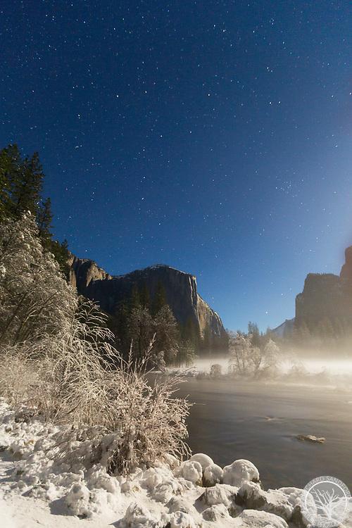 Big Dipper high above El Capitan, Valley View, Yosemite National Park, California