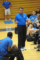 Coach K Lecture with Kyrie, Lance, Trajan