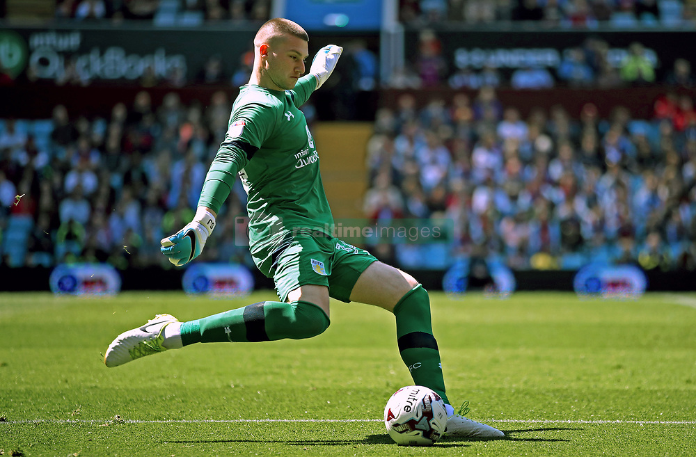 Aston Villa goalkeeper Sam Johnstone