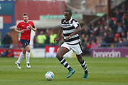 Forest Green Rovers Shamir Mullings(18) runs forward during the Vanarama National League match between York City and Forest Green Rovers at Bootham Crescent, York, England on 29 April 2017. Photo by Shane Healey.