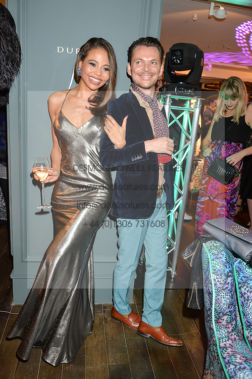 VISCOUNTESS WEYMOUTH and MATTHEW WILLIAMSON at the Duresta For Matthew Williamson Exclusive Launch At Harrods, Knightsbridge, London on 10th March 2016.