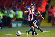 Sheffield United defender Danny Lafferty (24) in action  during the EFL Cup match between Sheffield Utd and Leicester City at Bramall Lane, Sheffield, England on 22 August 2017. Photo by Simon Davies.