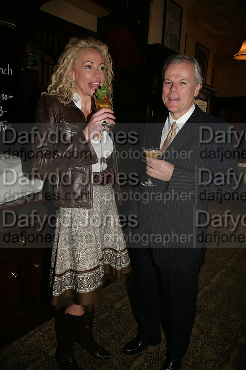 Gail Lawson and Frank Spann, PJ's Annual Polo Party . Annual Pre-Polo party that celebrates the start of the 2007 Polo season.  PJ's Bar &amp; Grill, 52 Fulham Road, London, SW3. 14 May 2007. <br /> -DO NOT ARCHIVE-&copy; Copyright Photograph by Dafydd Jones. 248 Clapham Rd. London SW9 0PZ. Tel 0207 820 0771. www.dafjones.com.