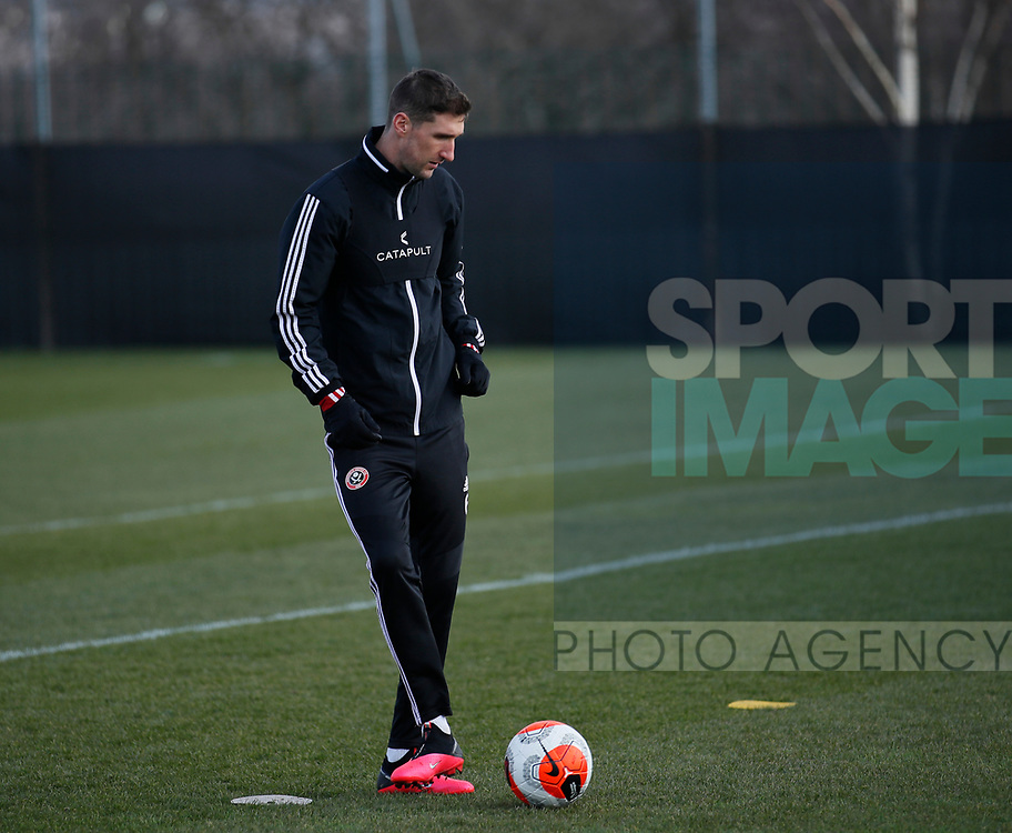 Chris Basham of Sheffield Utd during a training session at the Steelphalt Academy, Sheffield. Picture date: 5th March 2020. Picture credit should read: Simon Bellis/Sportimage