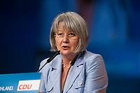 15 NOV 2010, KARLSRUHE/GERMANY:<br /> Ingrid Sehrbrock, Stellv. DGB Bundesvorsitzende, CDU Bundesparteitag<br /> IMAGE: 20101115-01-526<br /> KEYWORDS: Rede, speech