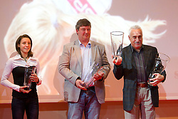 Lucija Krkoc, coach of Anja Puc and Slavko Cerne, coach of Tina Sutej during the Slovenia's Athlete of the year award ceremony by Slovenian Athletics Federation AZS, on November 12, 2008 in Hotel Mons, Ljubljana, Slovenia.(Photo By Vid Ponikvar / Sportida.com) , on November 12, 2010.