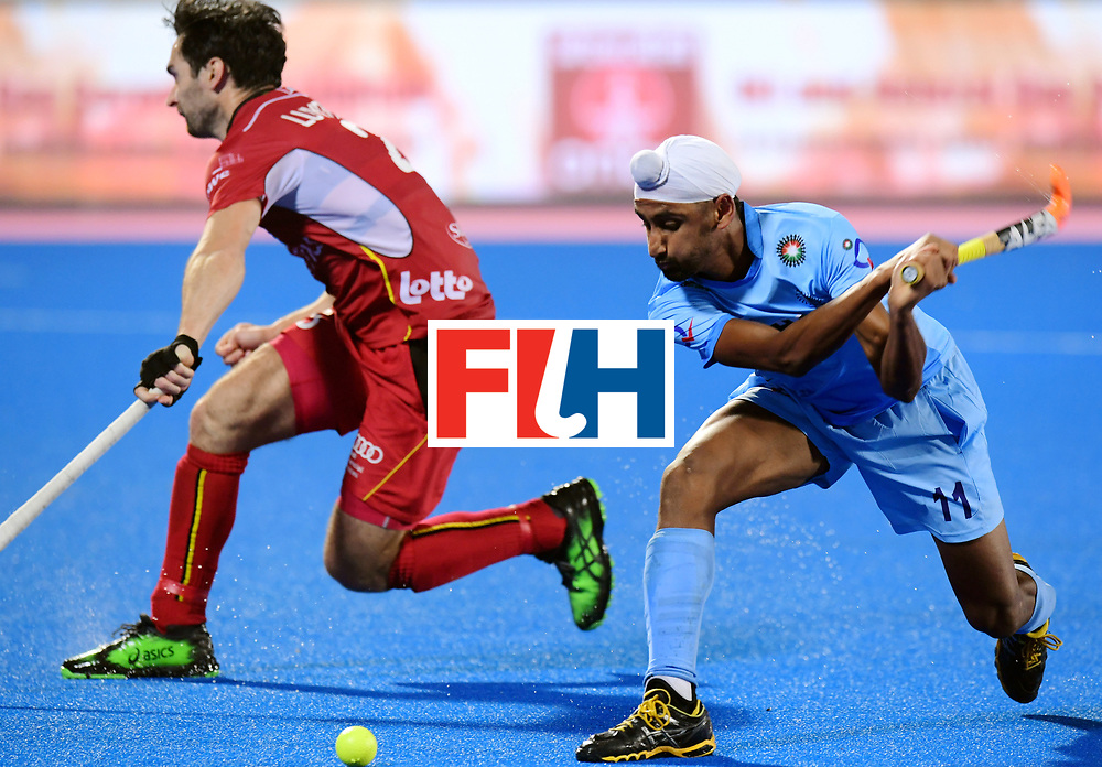 Odisha Men's Hockey World League Final Bhubaneswar 2017<br /> Match id:13<br /> Belgium v India<br /> Foto: Mandeep Singh (Ind) <br /> COPYRIGHT WORLDSPORTPICS FRANK UIJLENBROEK